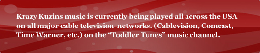 Listen to us on Toddler Tunes!